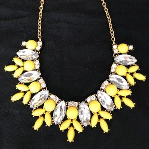 JCrew yellow necklace, adjustable